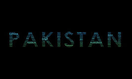 Pakistan Typography Illustration Stock Images