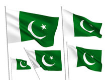 Pakistan vector flags Stock Images
