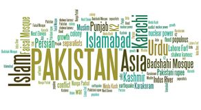 Pakistan word cloud Royalty Free Stock Photo