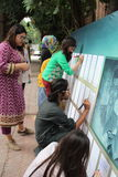 Pakistani Art Students Royalty Free Stock Photos