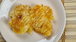 Pakistani Batter-Fried Potatoes. Spicy Fried Potatoes Royalty Free Stock Photos