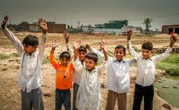 Pakistani boys. Group of young and happy Pakistani boys, Punjab, Pakistan Stock Photography