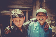 Pakistani brothers Stock Photography