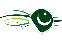 Pakistani flag banner design Royalty Free Stock Images