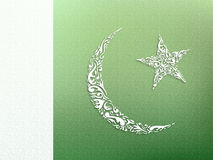 Pakistani Flag ornamental design Royalty Free Stock Photos