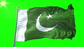 Pakistani Flag Green Screen Stock Video - Video of history