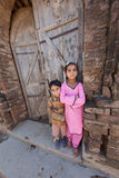 A Pakistani Girl and boy. Royalty Free Stock Image