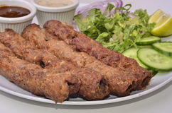 Pakistani indian Cuisine Seekh Kebabs Royalty Free Stock Images