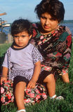 A Pakistani mother and child at a harbor, Alexandria, VA Royalty Free Stock Photography