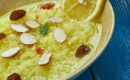 Pakistani Palatable Kheer. Pakistani cuisine , Palatable Kheer, condensed milk sugar and rice, Indian version of rice pudding . Traditional assorted dishes, Top stock photos