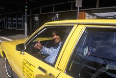 A Pakistani taxi driver in New York City Stock Photos