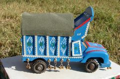 A pakistani toy truck stock photography