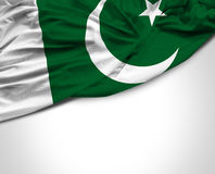 Pakistani waving flag on white background Stock Image