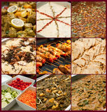 Pakistani wedding meal. 9 dishes of Pakistani wedding meal Stock Photo