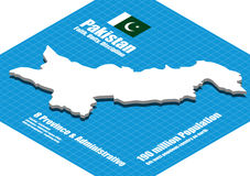 Pakistanl map vector Royalty Free Stock Images
