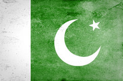 Pakistansk flagga arkivbilder