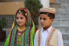Pakistansk flicka och pojke Royaltyfri Bild
