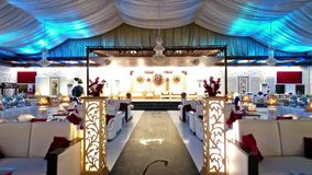 Pakistansk gifta sig ceremoni Arrangments i Karachi stock video