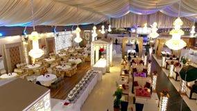 Pakistansk gifta sig ceremoni Arrangments i Karachi lager videofilmer