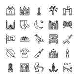 Pakistansk kultur och gränsmärken stock illustrationer