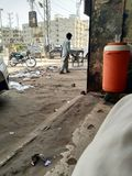 Pakistanska gator Arkivbild