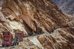 Pakistanska lastbilar royaltyfria foton