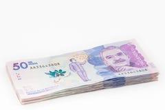 Pakje van Vijftig Duizend Columbiaanse Peso'srekeningen stock fotografie