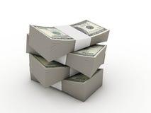Pakjes van dollars Stock Foto