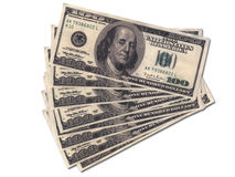 Pakjes van geld Stock Foto's