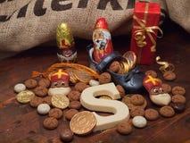 Pakjesavond, ημέρα του Άγιου Βασίλη Στοκ Εικόνες