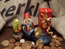 Pakjesavond, день St Nicholas Стоковое Изображение