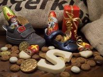 Pakjesavond, St Nicholas Day Images libres de droits