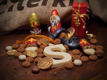 Pakjesavond, St Nicholas Day Fotos de Stock Royalty Free