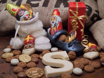 Pakjesavond, St Nicholas Day Stock Afbeeldingen