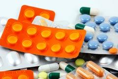 Pakken Pillen Stock Afbeeldingen