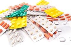 Pakken pillen Stock Fotografie