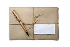 Pakket/de Streng en het Etiket van het Pakket royalty-vrije stock afbeeldingen