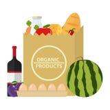 Pakket met biologische producten Stock Fotografie