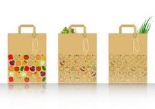 Pakket met groenten royalty-vrije illustratie