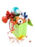 Pakket met Kerstmisgift stock afbeeldingen