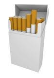 Pakket van sigaretten stock illustratie