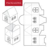 Pakket voor voorwerp Vectorillustratie van doos vector illustratie