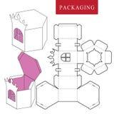 Pakket voor voorwerp Vectorillustratie van doos royalty-vrije illustratie