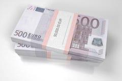 Pakketten van 500 Euro rekeningen royalty-vrije illustratie