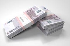 Pakketten van 500 Euro rekeningen vector illustratie