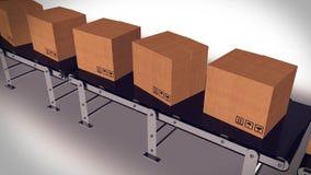 Pakkettenlevering en de verzendingsconcept van de postdienst Stock Afbeeldingen