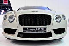 Bentley kontinentales GT V8 bei internationalem Motorshow Stockfotos