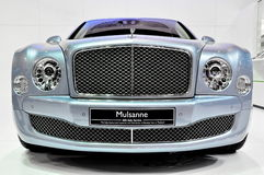Bentley Mulsanne at International Motorshow stock images