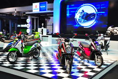 The new sport design Eco scooter Suzuki Let's Stock Photo