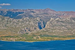 Paklenica canyon National park view Royalty Free Stock Image